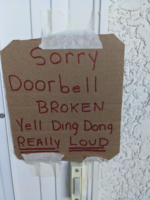 My neighbour put this above his doorbell