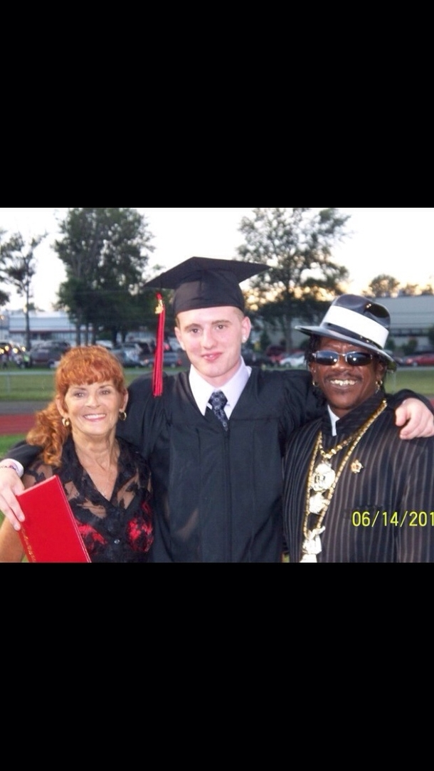 My Roommate With His Grandparents At His High School Graduation