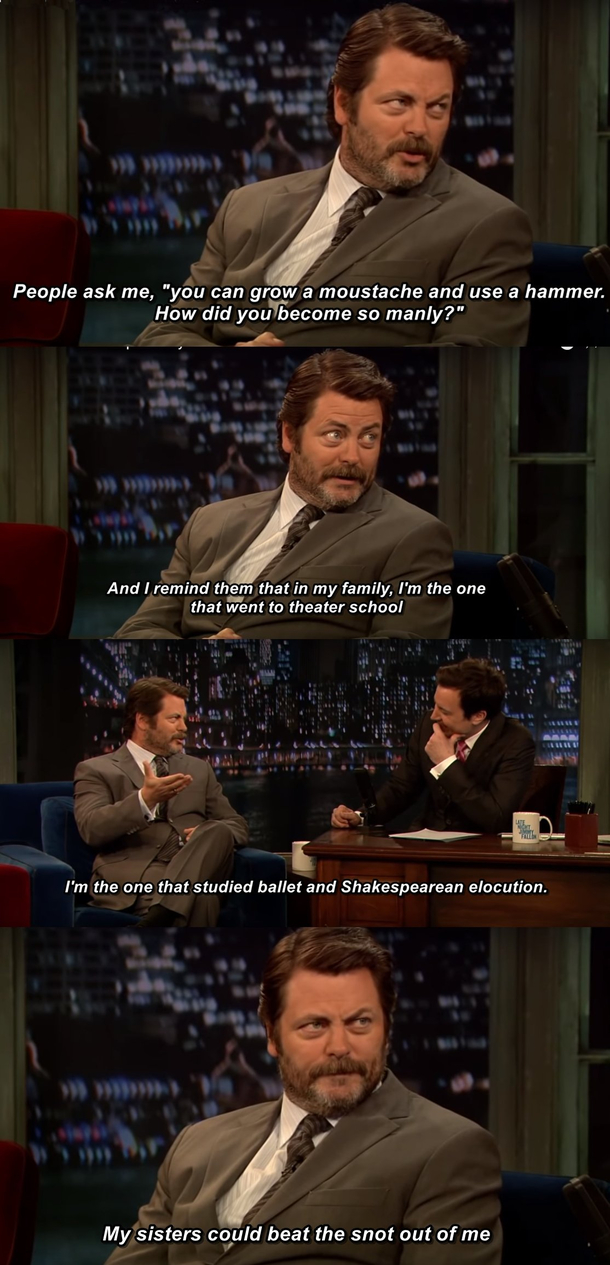 Nick Offerman on Manhood