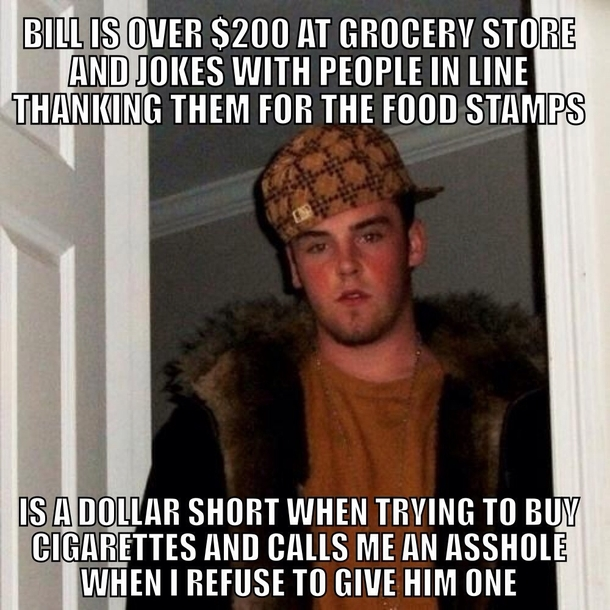 No one else gave him one either The cashier put them back behind the counter