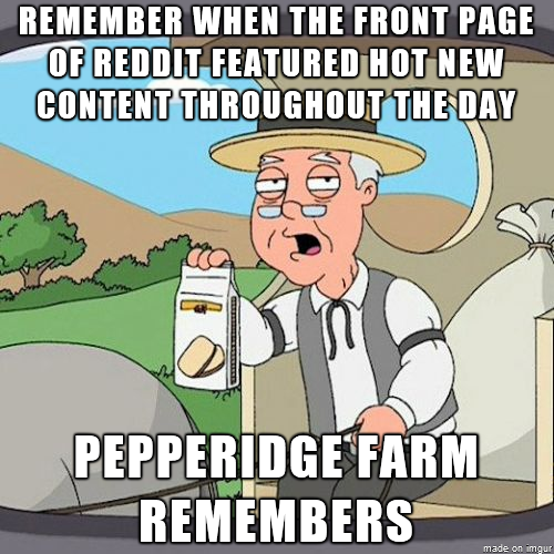 No seriously nowadays its the same front page for hours