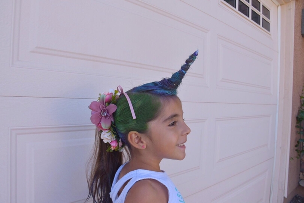 not to be outdone my niece was a unicorn for crazy hair day 278281 not to be outdone my niece was a unicorn for crazy hair day meme guy