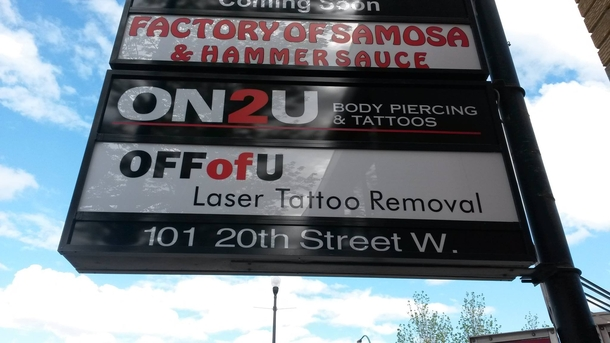 Noticed an addition to a tattoo shop in my city Wash rinse repeat