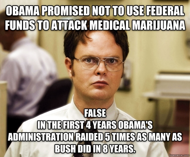 Obama is no friend to medical marijuana - Meme Guy