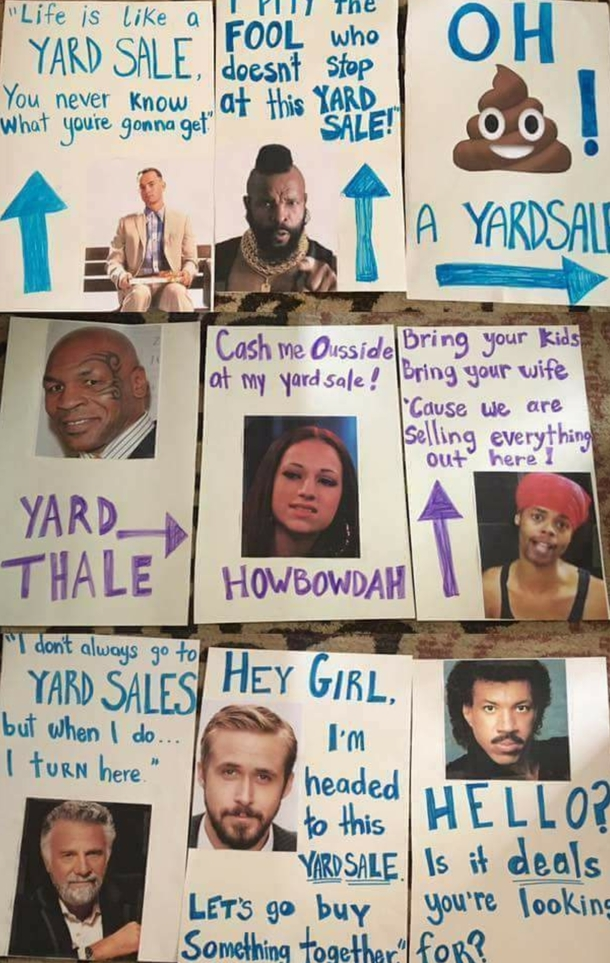 One Rick Roll away from the most meme-tastic yard sale ever
