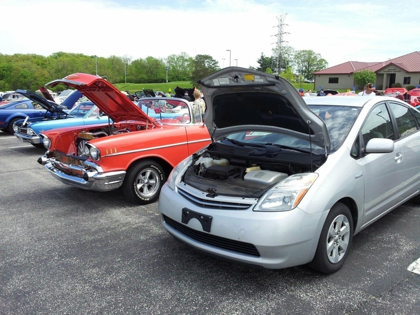 One time I entered my  Prius into a classic car show