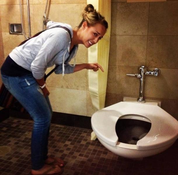 Only in USA big boned toilets - Meme Guy