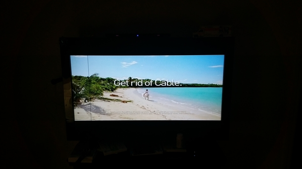 Our Time Warner Cable TV channels have been frozen in time since this morning This is what the Travel Channel is stuck on currently