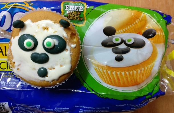 Panda cupcakes turned out quite well