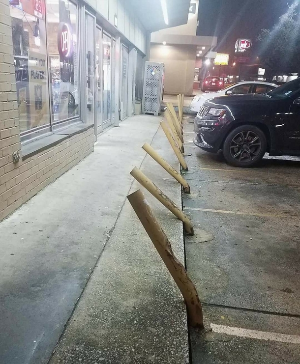 Parking lot at the liquor store