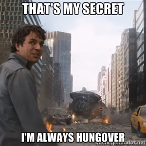 People always ask me how I can drink during the week and