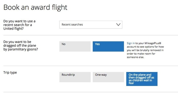 Pic #1 - Some new options on the United website