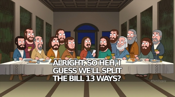 pic 1 stewie visits the last supper 221999 pic 1 stewie visits the last supper meme guy