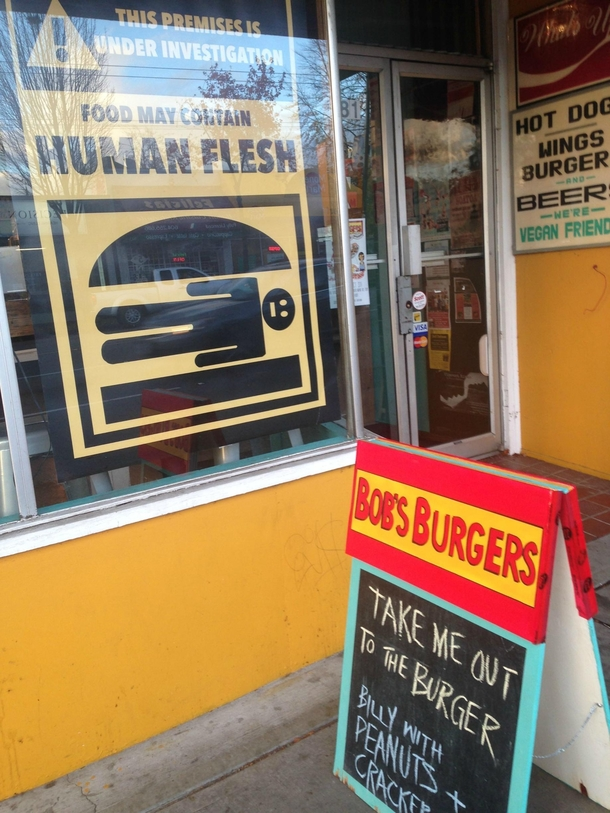 pic 1 this hotdog place dressed up like bobs burgers for halloween