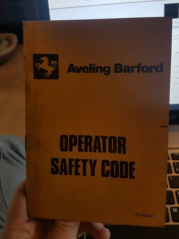 Pic   You Can Tell This Old Safety Manual Was Made For A Male