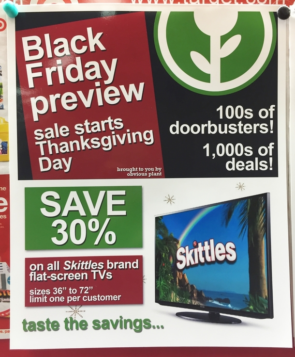 Pic #2 - I added some fake Black Friday deals to this stores weekly in-store flyer