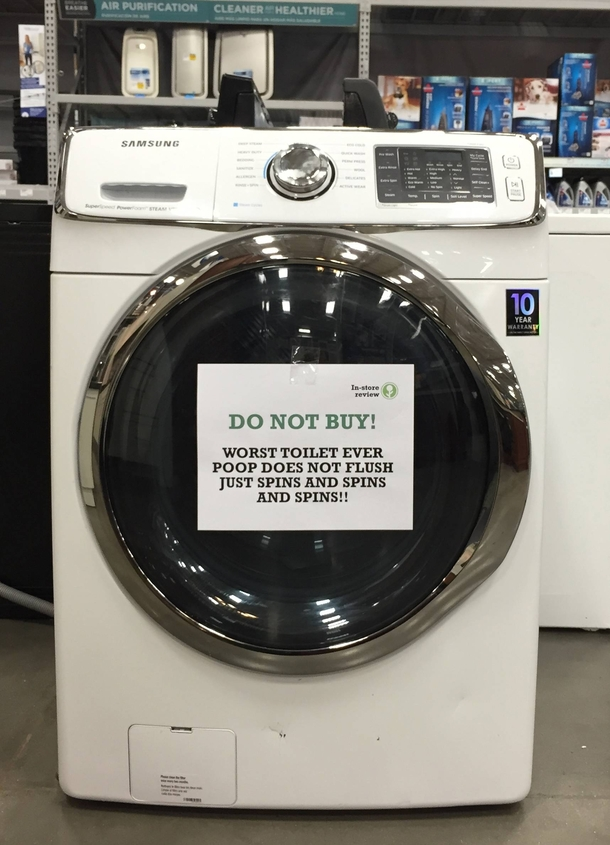 Pic #2 - In-Store Appliance Reviews