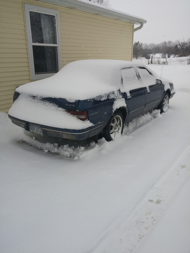 Pic #2 - My roommate left on a cruise for a week right before all these snowstorms I decided to play a little prank on him