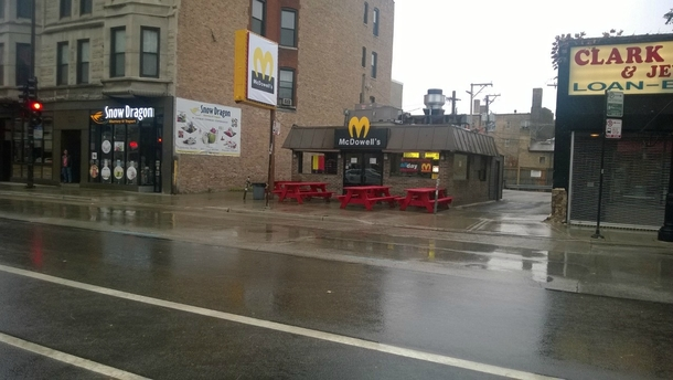 Pic #2 - The Wiener Circle in Chicago dressed up for Halloween