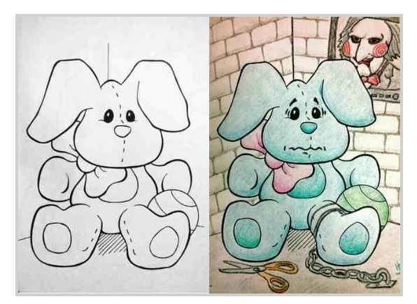 Pic 5 Hilarious Coloring Book Drawings Meme Guy