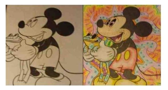 Pic 6 Hilarious Coloring Book Drawings Meme Guy
