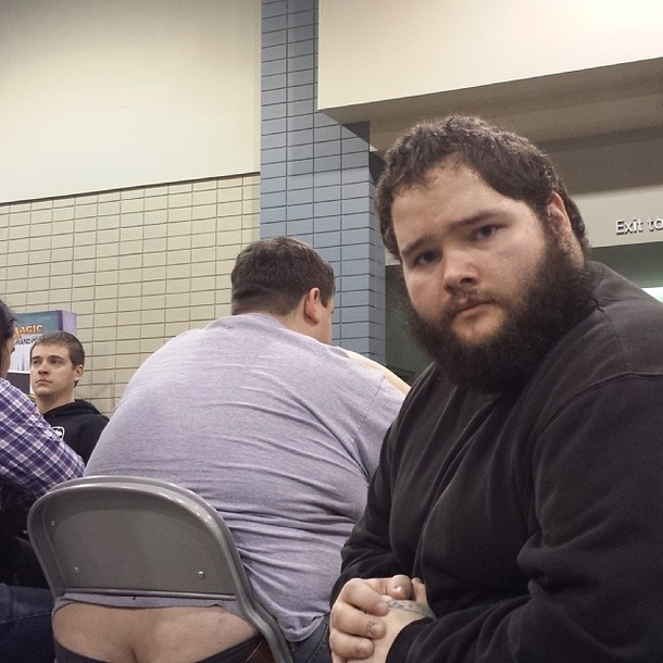 Pic #7 - I participated in one of the biggest Magic the Gathering tournaments of all time this weekend In an effort to document it I posed for pictures near people with exposed asscracks I present to you Grand Prix Richmond Crackstyle