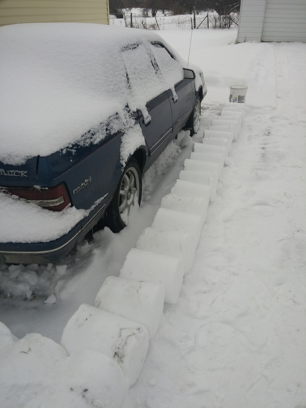 Pic #9 - My roommate left on a cruise for a week right before all these snowstorms I decided to play a little prank on him