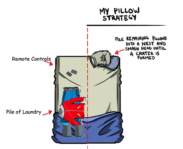 Pillow Strategy for Single Men