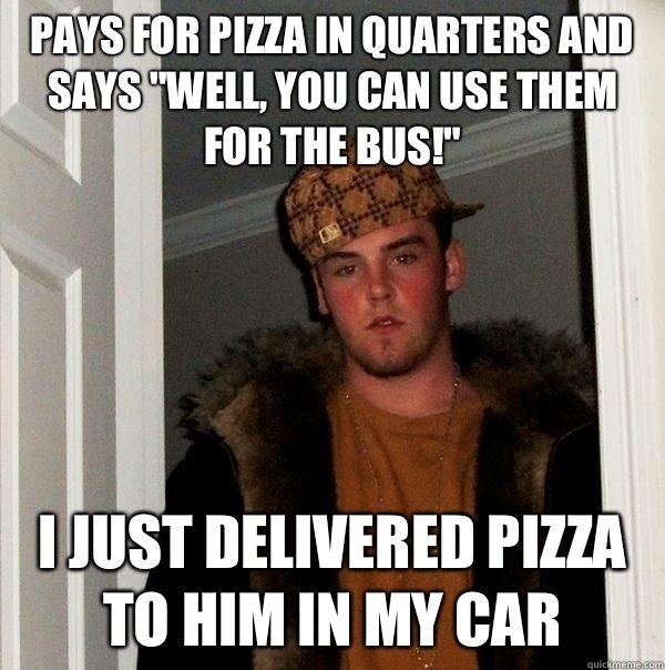 Pizza delivery woes - Meme Guy