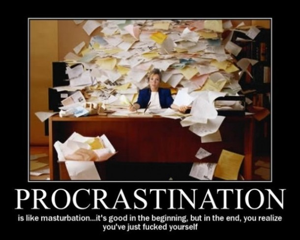Procrastination and masturbation