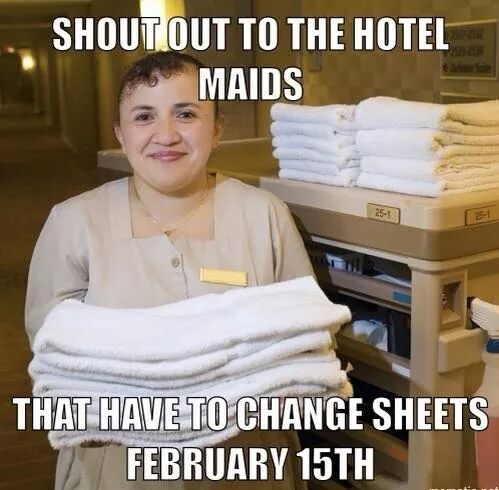 Props To The Maids And Happy Valentines Day