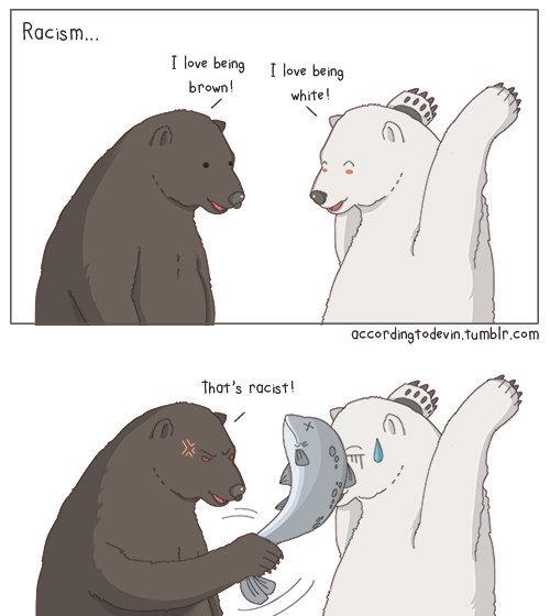 Racist Polar Bear Meme Guy