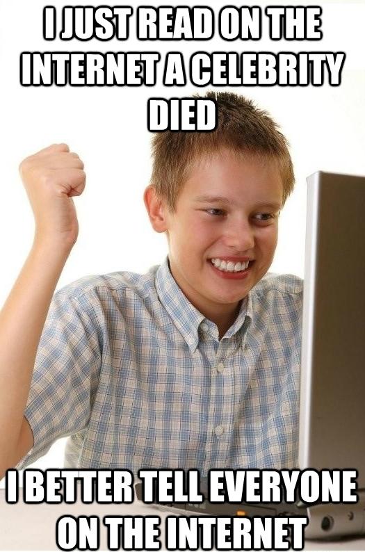 reddit every time a celeb dies meme guy