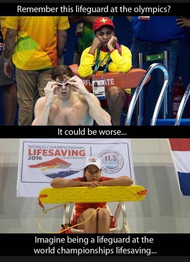 Remember the lifeguard at the Olympics