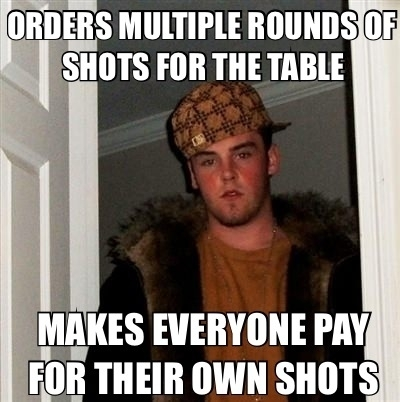 Scumbag co-worker wanted to celebrate his resignation