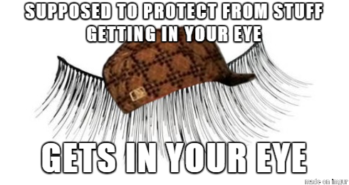 scumbag eyelash 161716 diy retail therapy meme guy