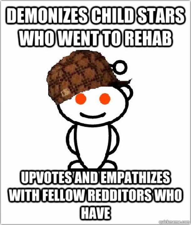 Scumbag Reddit on child stars - Meme Guy