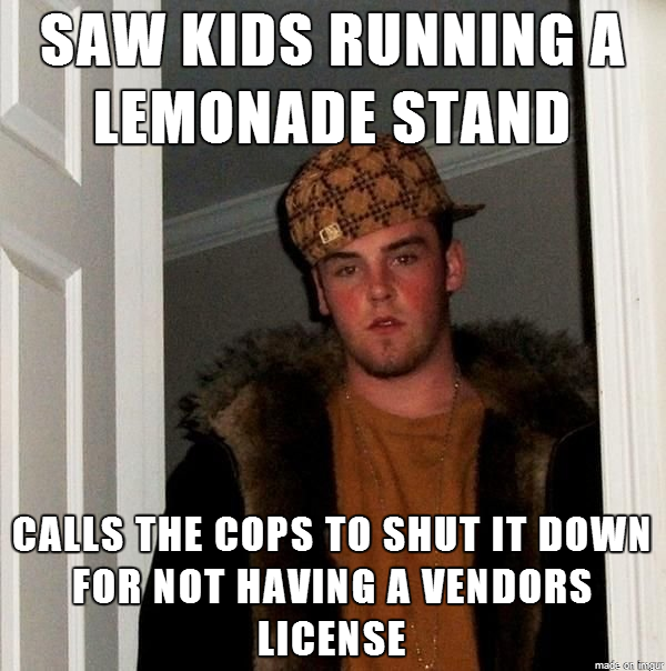 scumbag steve and the lemonade stand 24896 scumbag steve and the lemonade stand meme guy