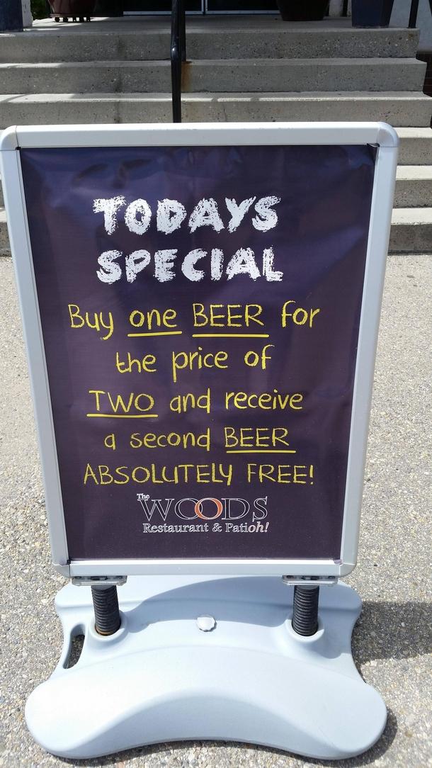 Seems legit sign at th...