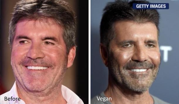 Simon Cowell Went Vegan And Now Looks Like Death Meme Guy