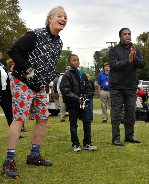 So Bill Murray went golfing with the mayor of my city today sporting PBR shorts