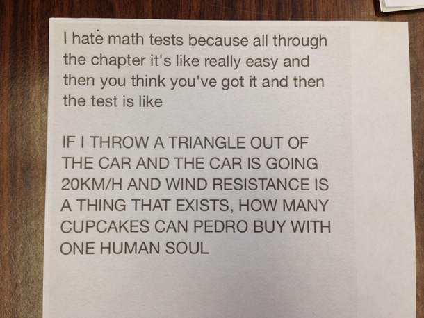 So my calculus professor found this posted on the door to his office today by a student