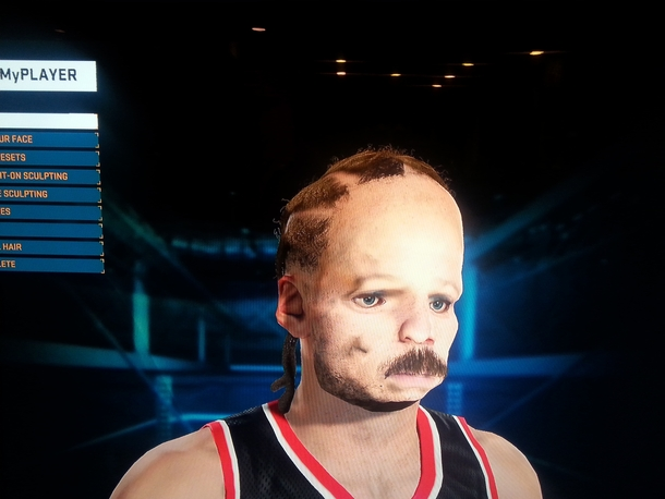 So my friend scanned his face for NBA K MyPlayer