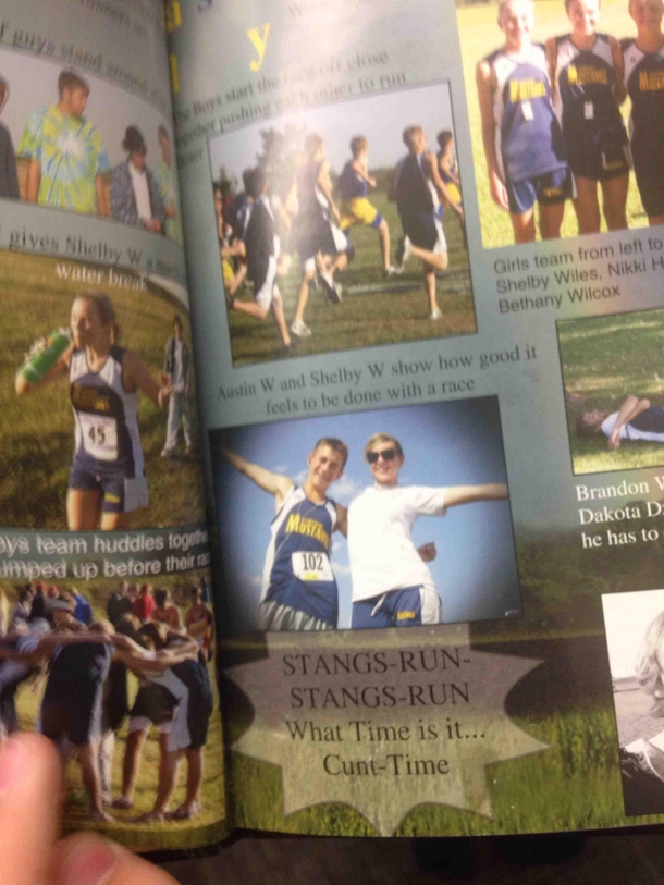 So my school apparently forgot to proofread their yearbooks