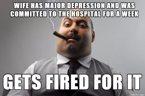 so my wifes depression was more for her to bear and so she checked into the hospital to get happens 164164 heading to fat camp meme guy