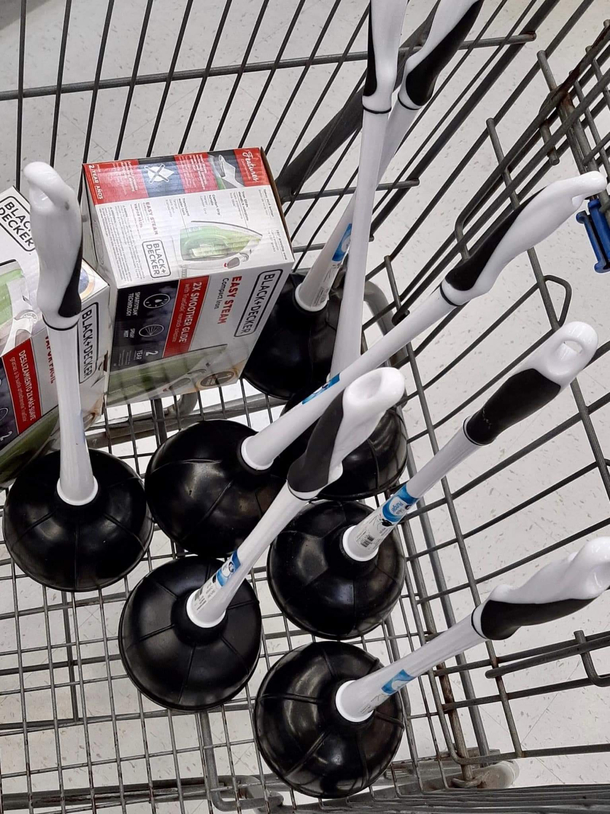 So to all you folks scooping up all of the TP- what are you gonna do now that I have all the plungers