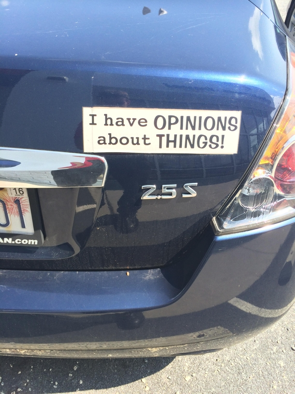 Some peoples bumper stickers cross the line