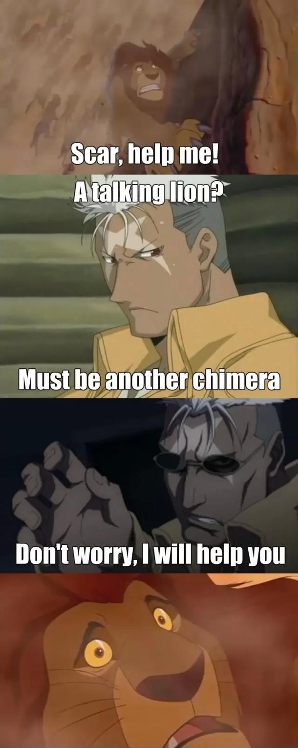 Something for the Full Metal Alchemist fans - Meme Guy