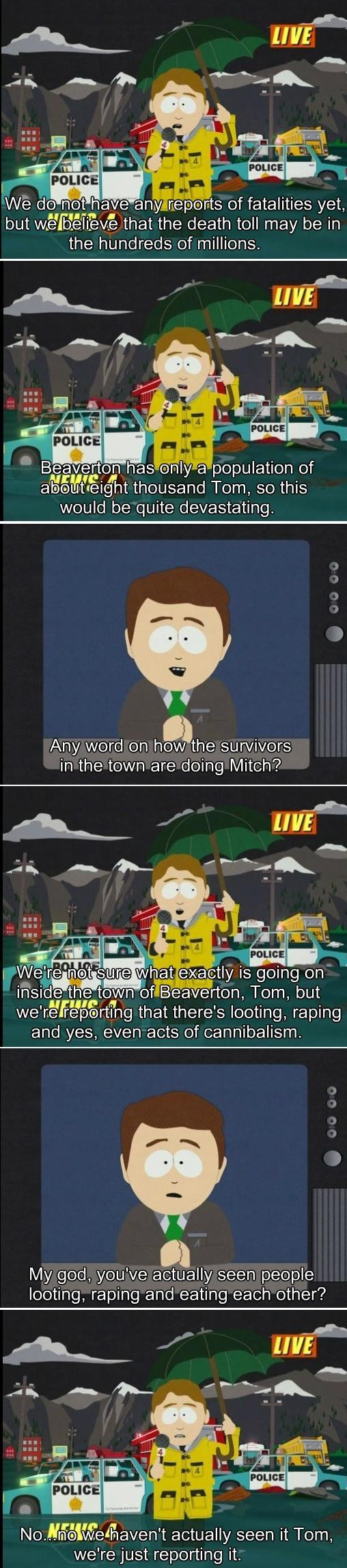 South Parks accurate depiction of broadcast journalism