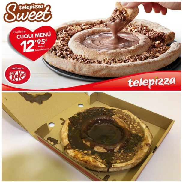 Spain  Telepizzas Kit-Kat pizza ad and delivery
